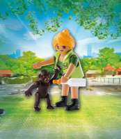Playmobil : Zookeeper with Gorilla Baby - Playmobil 9074