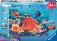 Pussel : Finding Dory 2x24p - Ravensburger 009103