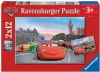 Pussel : Lightning McQueen and Friends 2x12p - ravensburger Lynet puslespil 007554