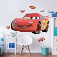 Cars : Disney Cars Large Character Room Sticker - Walltastic Disney Cars børneværelse 4436