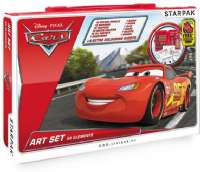 Cars : Disney Cars Art Set 68 Pcs - Lynet McQueen tegnsæt 204398