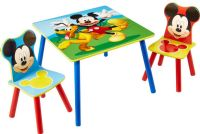 Bord och stolar : Mickey Mouse Table and 2 Chairs - Disney Mickey Børnemøbler 661703