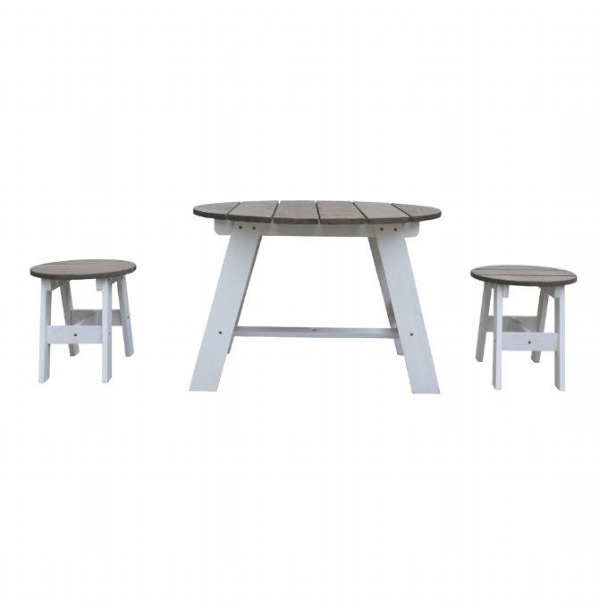 Picknickbord och stolar grått AXI Picknickbord 935384 Shop