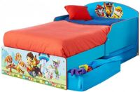 Barnmöbler : Paw Patrol Toddler Bed with underbed storage by HelloHome - Paw Patrol Børnemøbler 662083