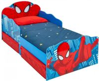 Worlds Apart : Spider-Man Toddler Bed with light up eyes and underbed storage by HelloHome - Spiderman børnemøbler 663554