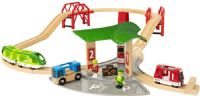 Brio träleksaker : Travel Station Set - Brio togbane 33627